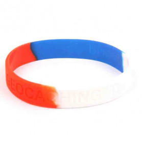 Wristband - Geocaching, this is our world Red-white-blue