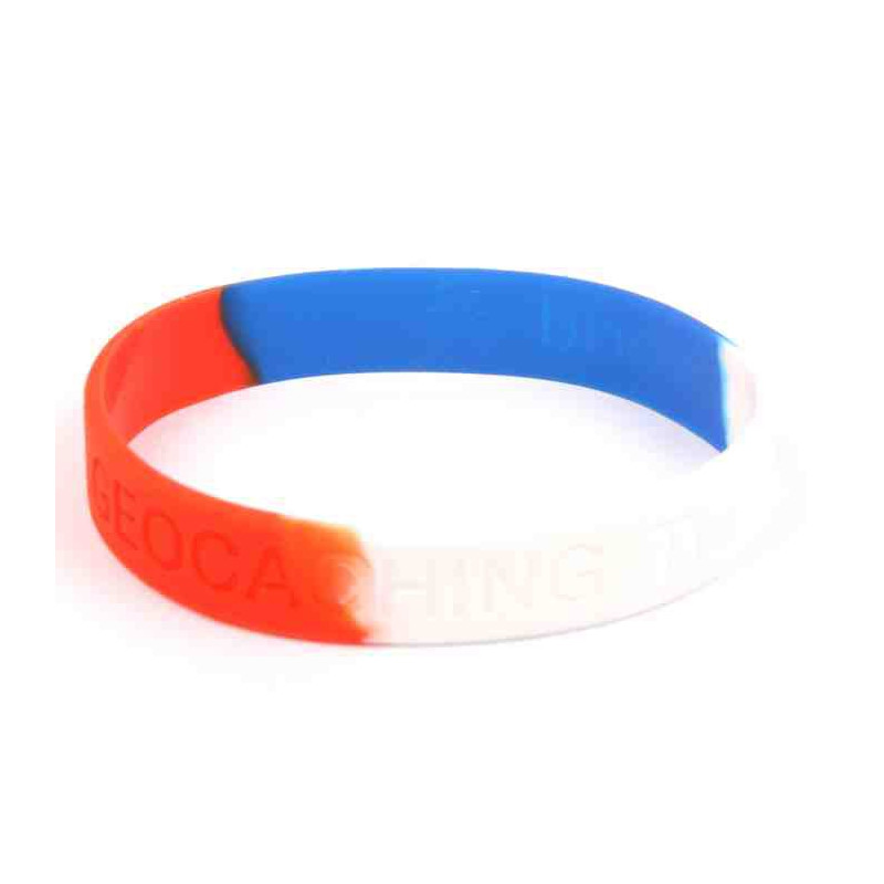 Armband - Geocaching, this is our world Rood-wit-blauw