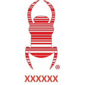 Travel bug - Sticker - 20 cm - Rood, decal