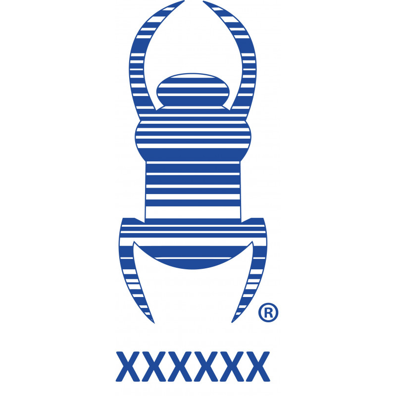 Travel bug - Sticker -   16,5 cm - Blue, decal