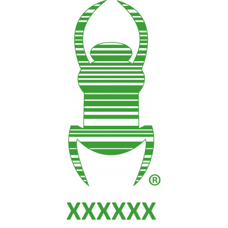 Travel bug - Sticker -  20 cm - Groen, decal