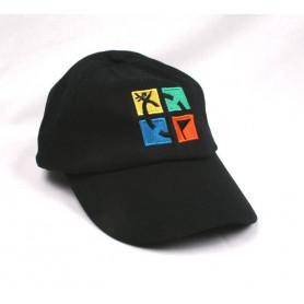 Kappe, schwarz mit Geocaching Logo
