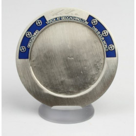 My Geocoin - with engraving - antique silver / Blue