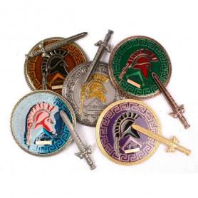 Spartan Geocoin - Set of 5