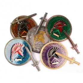 Spartan Geocoin - Set von 5
