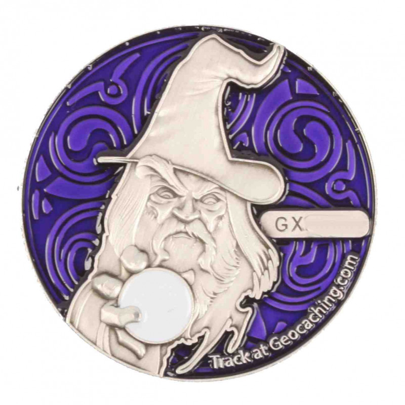 The Magician Geocoin - AS Purple - RE