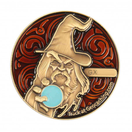 The Magician Geocoin - AB Brown - RE