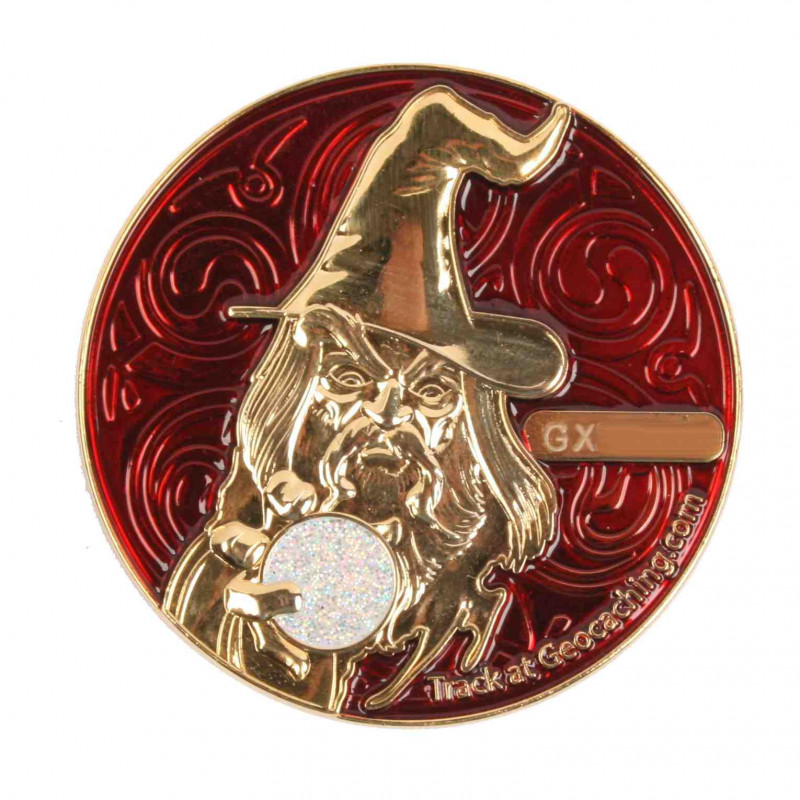 The Magician Geocoin - PG Rood - LE