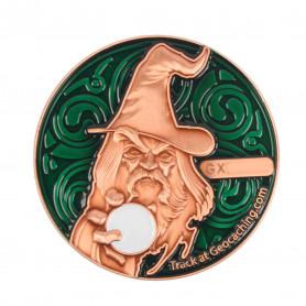The Magician Geocoin - AC Green - XLE