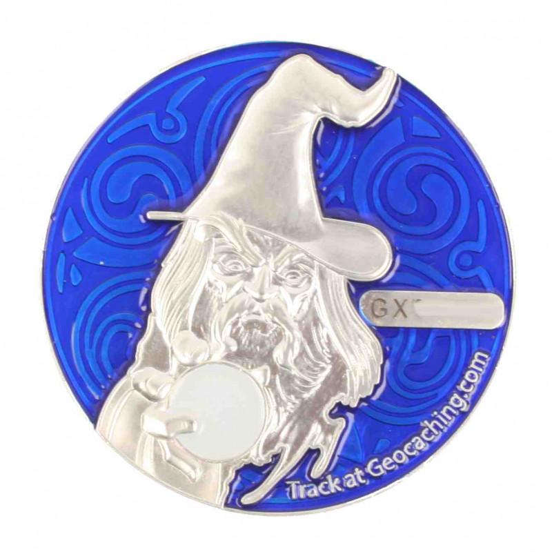 The Magician Geocoin - SS Blue - XLE