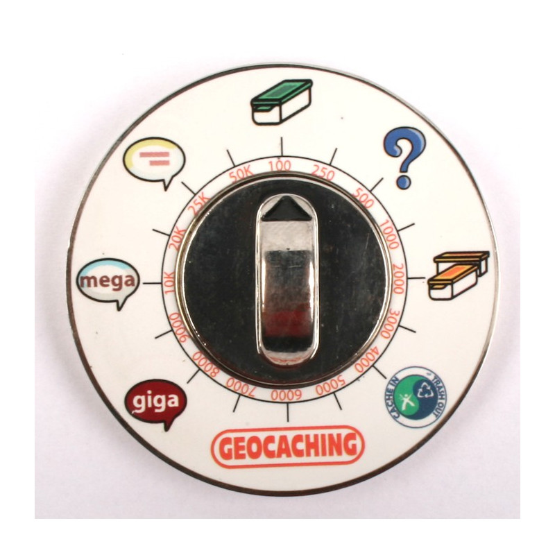 Cache Clock Geocoin - PN Blue - RE