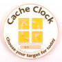 Cache Clock Geocoin - AC gelb - XLE