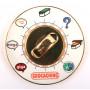 Cache Clock Geocoin - PG glitter AE