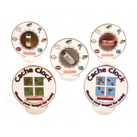 Cache Clock Geocoin - set of 5