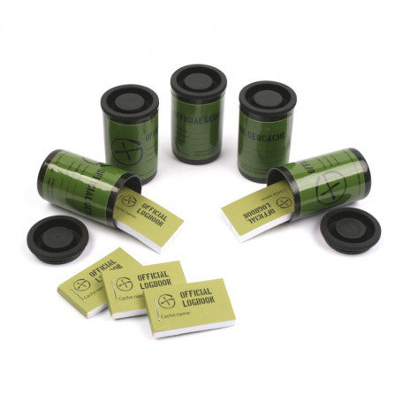 Filmdose containerset of 5 - Schwarz