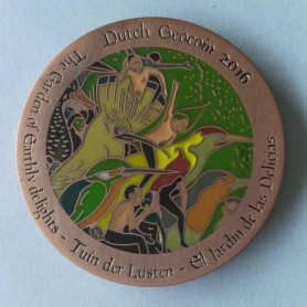 Dutch Geocoin 2016 - Antiek koper - XLE - Jeroen Bosch
