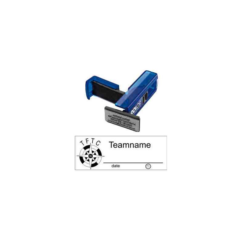 Log stempel - Kompas - 14 x 38 mm