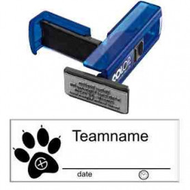 Log stamp - Dog track - 14 x 38 mm