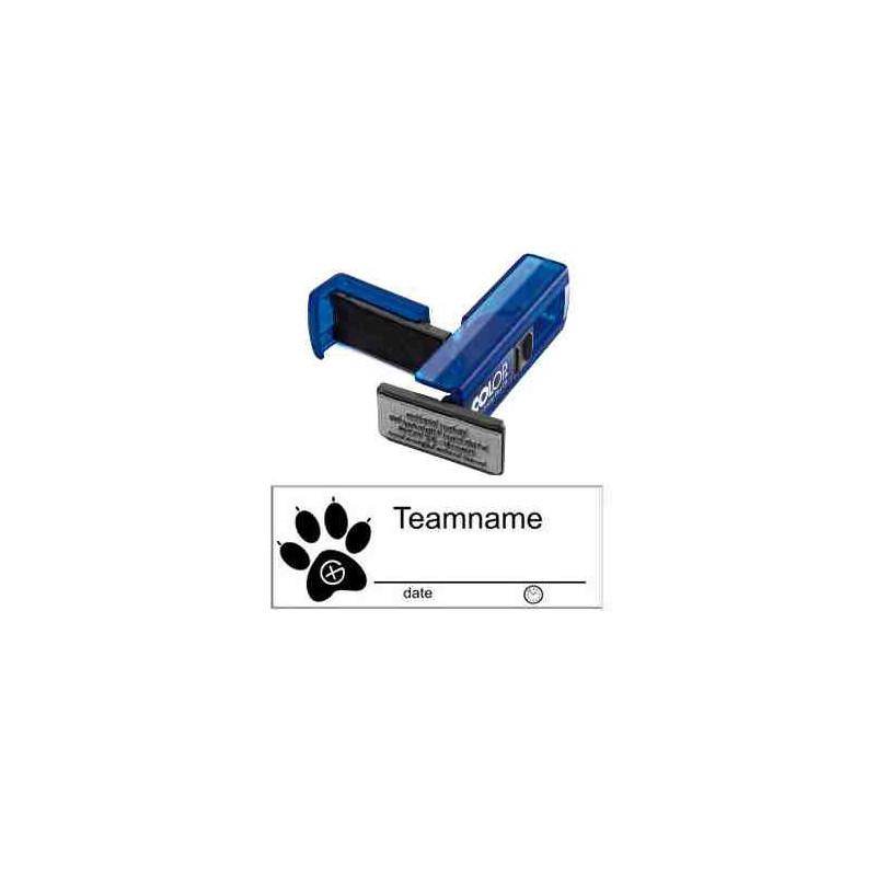 Log stamp - Dog track - 14 x 38 mm
