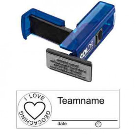 Log stamp - Heart - 14 x 38 mm