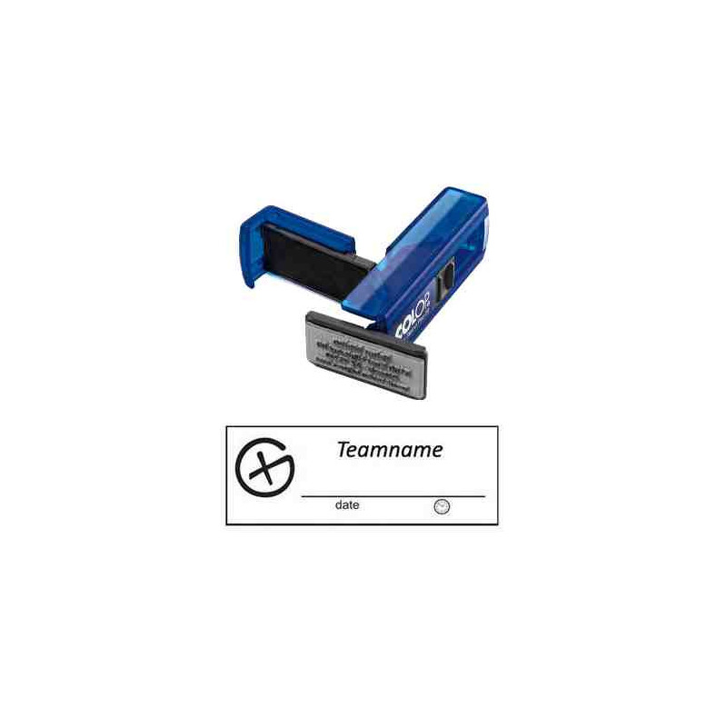 Log stempel - Geocaching Logo -14 x 38 mm