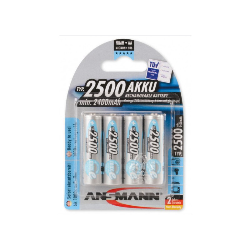 Ansmann AA 2500mAh 4 st.