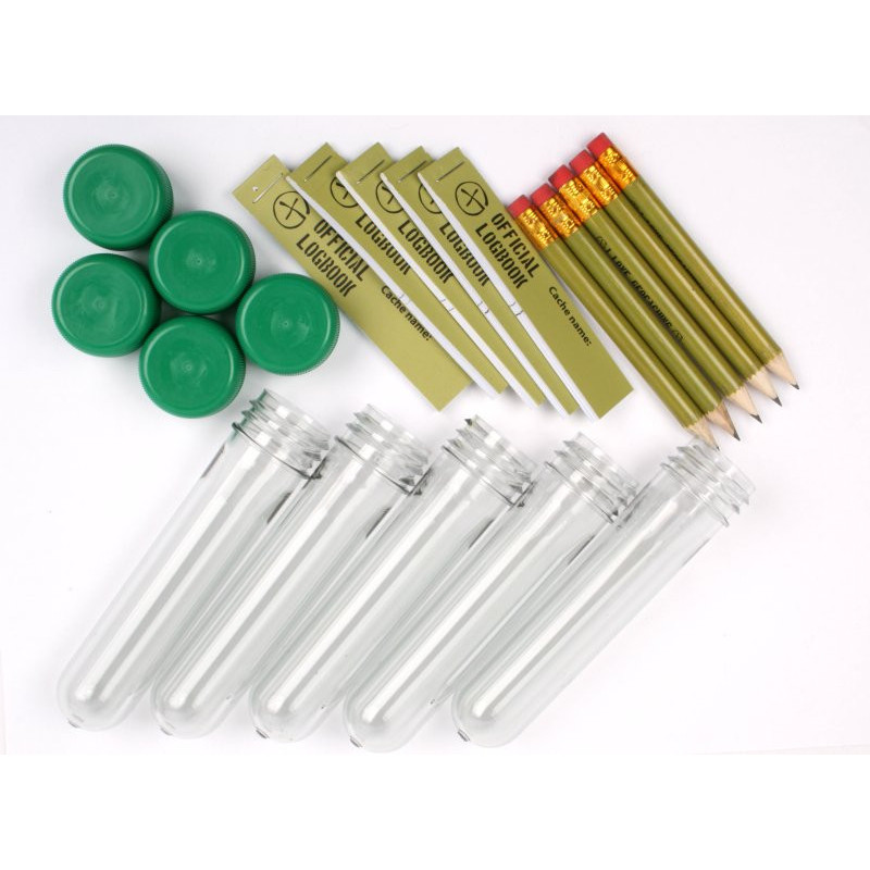 PETling containerset of 5 with green cap