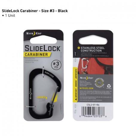 SlideLock Carabiner maat 3