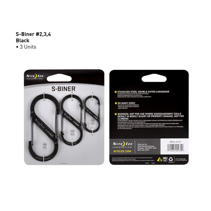 S-Biner 3-Pack (Größe: 2, 3 & 4)