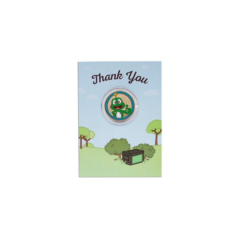 Thank You kaart met Geocoin