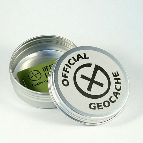 Dish Round Magnetic Geocaching Container - M - (71 x 26 mm)