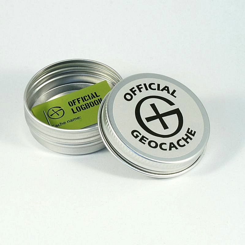 Magnetische Geocaching Container rond - S (55 x 20 mm)