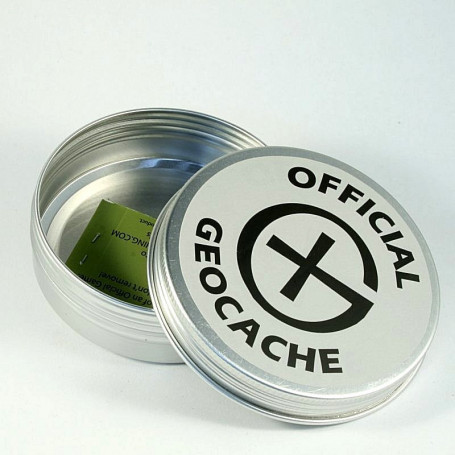 Dish Round Magnetic Geocaching Container - L - (85 x 26,5 mm)