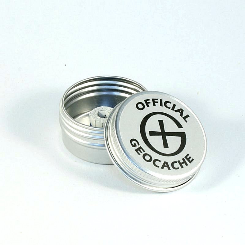 Dish Round Magnetic Geocaching Container - XS - (41 x 20 mm)