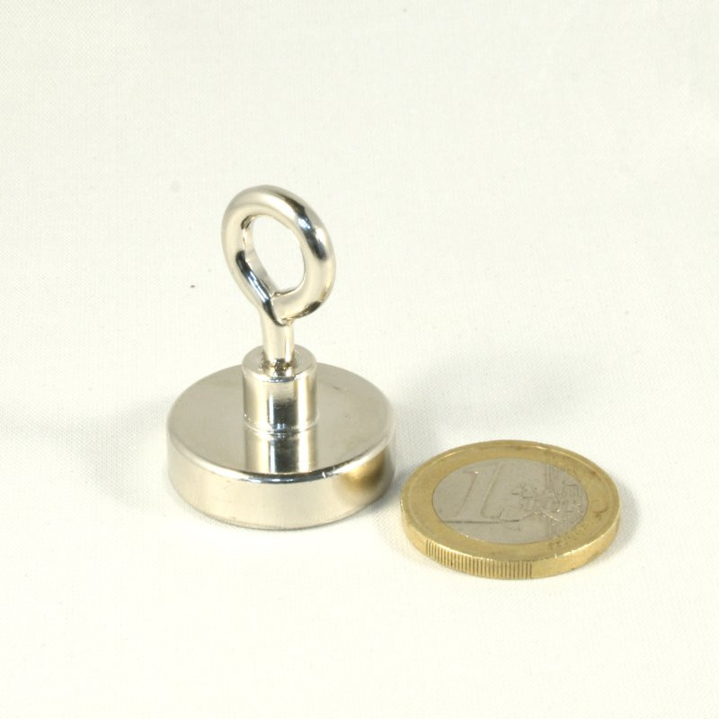 1pcs 25 mm Neodym Magnet with eyelet