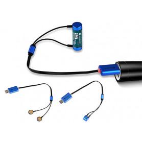 Olight - Universele lader (kabel) voor oplaadbare accu's