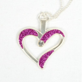 Eternal Love Geocoin - A Gift of Love edition -Satin Silber/pink