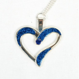 Eternal Love Geocoin - A Gift of Love edition -Silber/blau