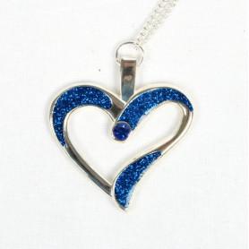 Eternal Love Geocoin - A Gift of Love edition - silver/blue