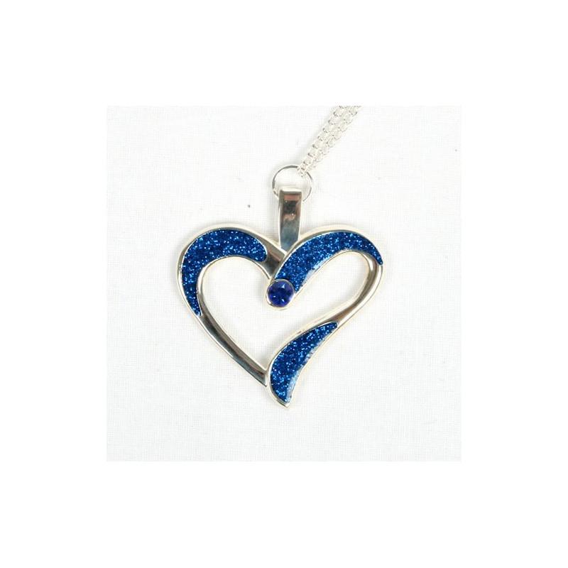 Eternal Love Geocoin - A Gift of Love edition - zilver/blauw