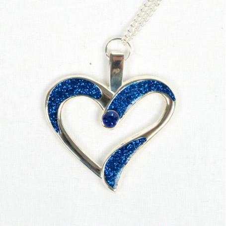 Eternal Love Geocoin - A Gift of Love edition -Silber/blau