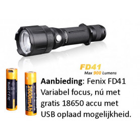 Fenix FD41 zaklamp - 18650 set