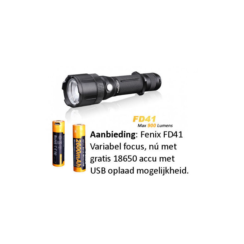 Fenix FD41 zaklamp set