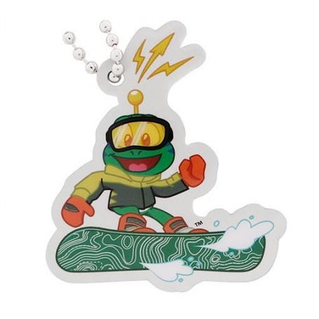 Signal the Frog traveltag - Wintersport Snowboarden