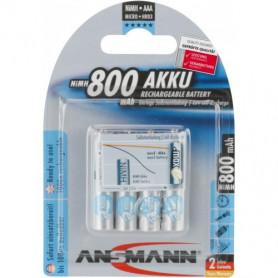 Ansmann AAA 800mAh 4 stuks in blister