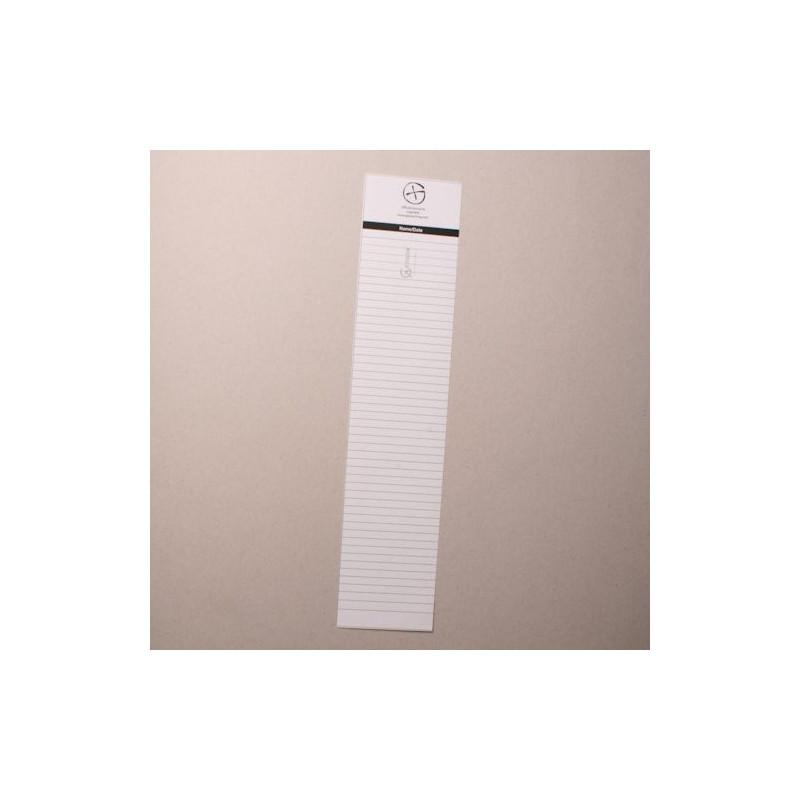 Logsheet waterproof 6 x 28cm, 1 sheet
