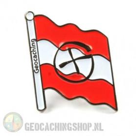 Pin flag Austria - black nickel