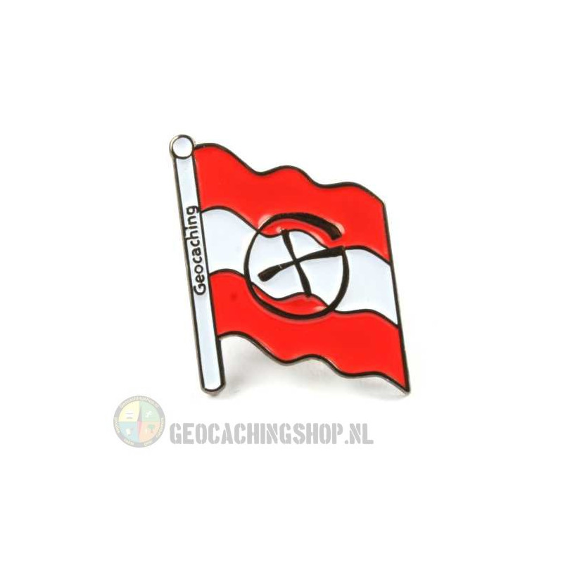 Pin flag Oesterreich - black nickel