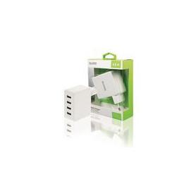 Lader 4-Uitgangen 4.8 A USB Wit