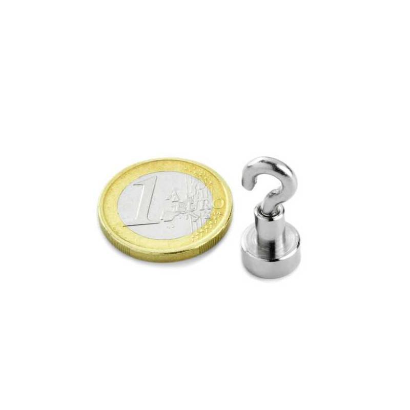 1st 10 mm Neodym Magneet met haak